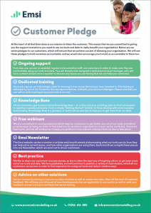 The Emsi Customer Pledge