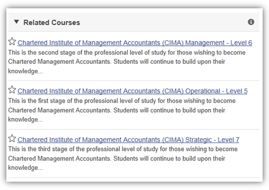 Chartered or Certified Accountant Related Courses